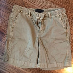 J. Crew Chino Shorts Size 0